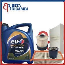 Kit Tagliando Per Renault Clio IV Captur 1.5 DCI Dacia Filtri +5 Elf 5W30 C4 FE