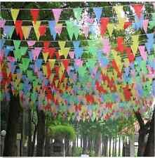 10m Bunt Flagge Wimpelkette Wimpelgirlande Girlande Party Geburtstag Deko heiß