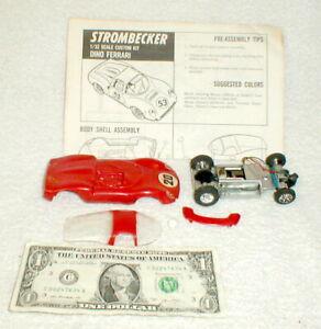 Dino Ferrari Red #20 Kit Strombecker Slot Car 1960 Original Info Sheet used