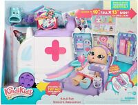 Kindi Kids Hospital Corner Unicorn Ambulance Toy Playset & Shopkins Accessories