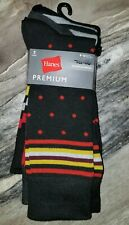 Hanes Premium Men's 3-pack Dress Casual Crew Flat Knit Socks, 6-12