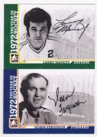 09-10 ITG Norm Ferguson Auto 1972 The Year In Hockey 2009