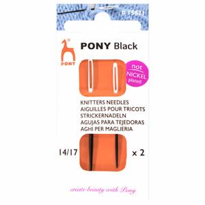 Pony Black Knitters Needles (Size 14 & 17) *Anti-Allergy*