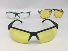 Eyeglass Glasses Yellow Lens Lot of 3 Pairs Wire & Plastic Rims Pair Clear Len