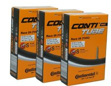 3er-Pack Continental Race 28 Fahrrad Schlauch 700C SV 42mm Rennrad 20-25x622-630