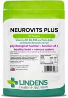 Neurovits Plus 90 Tablets Vitamin B1, B6, B12, Folic Acid Tiredness and Fatigue