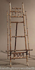 """EASEL - """"CANTON"""" TABLETOP DISPLAY STAND - PICTURE STAND - ANTIQUE SILVER - 16""""H"""