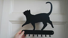 Key rack with 7 hooks, cat design