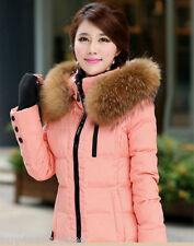 "Top Quality Real Raccoon Fur Collar Hood Trimming Scarf  Brown 80*20cm/31X8""inch"