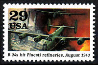 USA postfrisch MNH B 24 Bomber Flugzeug Kampfflugzeug 1943 Weltkrieg Militär /34
