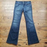 7 Seven for all Mankind A Pocket Boot Cut to Flare Blue Denim Jeans Size 30 x 33