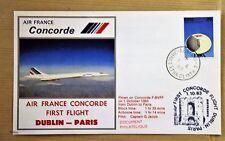 1ER  VOL CONCORDE DUBLIN-PARIS  du 01 octobre 1983   avec certificat de vol