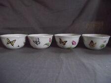 Set of 4 Lenox Butterfly Meadow Bloom Fruit Dessert Bowls