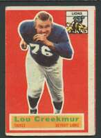 1956 Topps #8 Lou Creekmur VG/VGEX Lions 25126