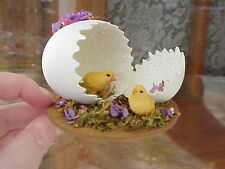Decorated Carved Real Egg Collectible Gift Easter Spring Peep/Chick Hatching