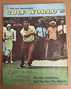 1968 Golf World MAGAZINE PGA ARNOLD PALMER