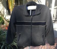 Abercrombie Reversable Mens Mountain Fleece Jacket  Black Gray  L