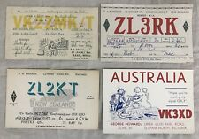 4 Unique Vintage Amateur Radio QSL Cards