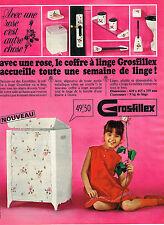 PUBLICITE   1967   GROSFILLEX    coffre à linge