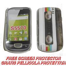 Pellicola + custodia BACK cover RIGIDA FE90 per Samsung Galaxy Mini S5570 (B4)