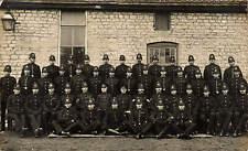 Clowne. Policemen on Duty during Coal Strike 31/10/26. Bucks, Surrey & Derbys.