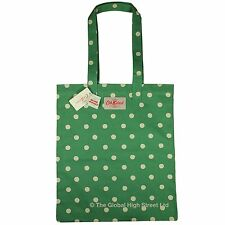 Cath Kidston Book Bag Spot (emerald) cotton *100% authentic* *BNWT*