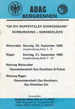 ADAC Bergrennen Wuppertaler Schwebebahn 9 80 Ausschreibung 1980 Motorsport Auto