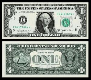 1963-B $1 DOLLAR BILL  FEDERAL RESERVE ~***STAR ***~~CRISP ~GEM UNCIRCULATED