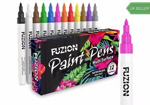 Waterproof Acrylic Paint Pens Rock Painting Art Markers For All Surface 12 Set