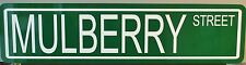 METAL STREET SIGN MULBERRY STREET MANHATTAN NEW YORK ITALIAN RESTAURANT PIZZA