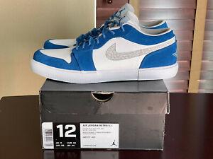 "Nike Air Jordan 1 Retro V.1 ""MILITARY BLUE"" Cement Black Navy White sz 12 New DS"