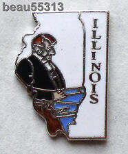 ILLINOIS USA STATE  VEST JACKET HAT TAC BIKER PIN