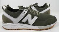 New Balance Men's 247 Engineered Sneaker Green/White Size 9.5