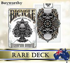 Steampunk Bandits White BICYCLE Rare Embossed Box Poker Playing Cards Deck