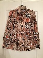 Chico's Woman's High Collar / Open Collar Blouse - Size 3 NWOT