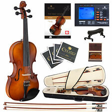 Cecilio 1/2 CVN-320L Left Handed Ebony Violin +Book/Video+Tuner+Case