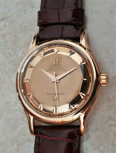 Vintage Omega Constellation deluxe automatic watch,18k solid rose gold, 352-2699