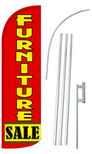FURNITURE SALE Flag Kit 3' Wide Windless Swooper Feather Advertising Sign