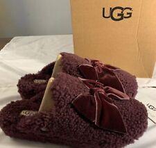 UGG ADDISON VELVET BOW SLIPPER 1098169 PORT EXCLUSIVE WOMAN'S SIZE 6 AUTHENTIC