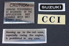 SUZUKI GT250, GT185, GT125 SET OF 4 WARNING DECALS
