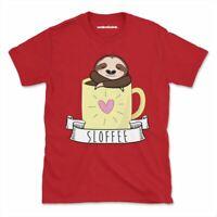 Sloffee Tshirt Funny Sloth Coffee Cute Womens Mens