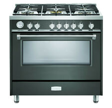 """Verona Designer Series Vdfsgg365Sg 36"""" All Gas Range Oven 5 Burner Slate Gray"""