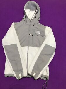 The North Face Hoodie Full Zipper White And Gray Jacket Size S/P Womens