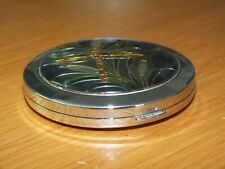 Compact Mirror Silver Metal Enamel Dragonfly