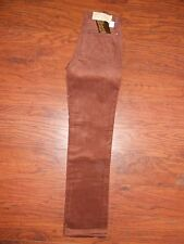 Girls 70s Vintage Wrangler Cord Corduroy Pants Jeans 14 Slim Red/Brown Straight