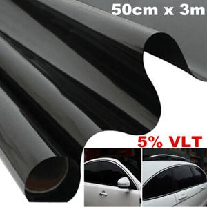Car Window Tint Tinting Film Black Roll Anti-scratch Professional 5% 50cm x 3m