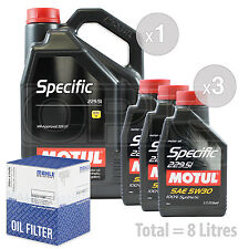 Engine Oil and Filter Service Kit 8 LITRES Motul MERCEDES 229.52 5w30 8L