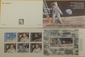1969 First Men on the Moon 1989 Six Marshall Island 25 cents and one at $1