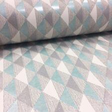 Rayas Harlequin geométrica Wallpaper Brillo En Relieve Vinilo Verde Azulado Blanco Rasch