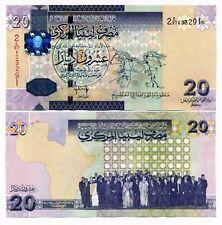 Libya 20 Dinars ND 2009 P. 74  UNC Note Gaddafi / African Union